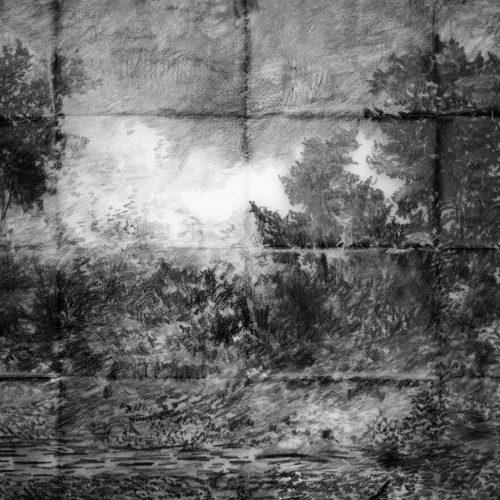 Tsunamis, graphite on vellum paper, 59 x 90 cm., 2013.