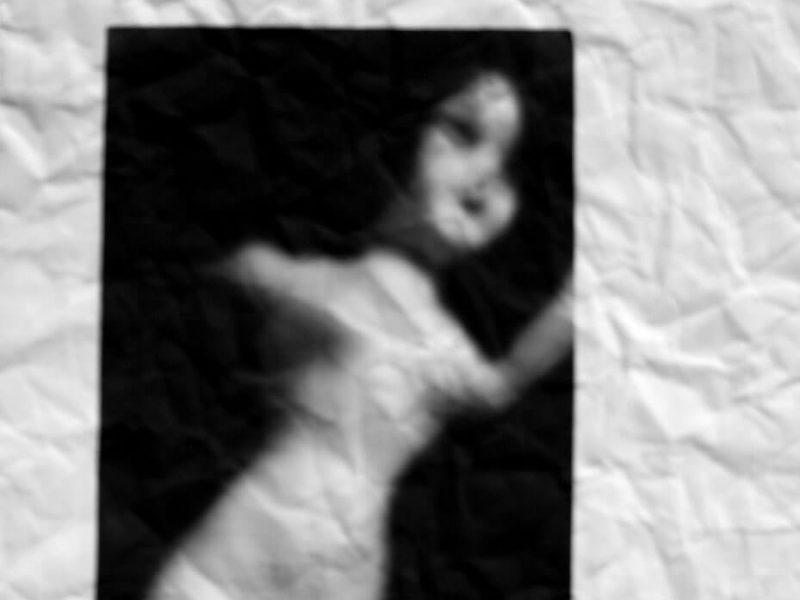"""Fiber Dolls, print on fiber paper, 11"""" x 24"""", 2004."""